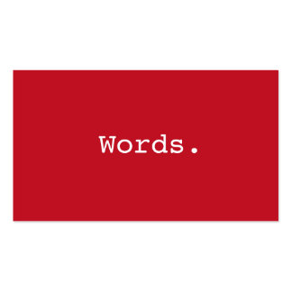 Modern simple deep red writer publisher editor Double-Sided standard business cards (Pack of 100)