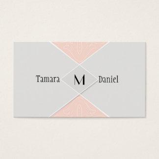 Modern Simple Diamond Velum Flap Look Swirl Scroll Business Card