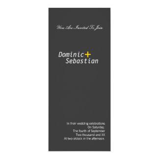 Modern Simple Elegance Gay 4x9.25 Paper Invitation Card