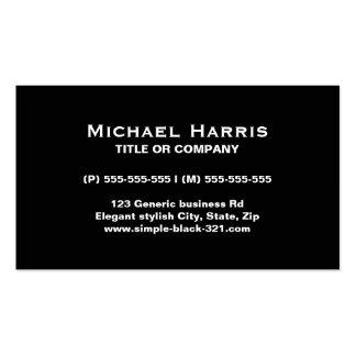 Modern simple elegant black business card