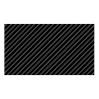 Modern simple elegant black gray stripes profile Double-Sided standard business cards (Pack of 100)
