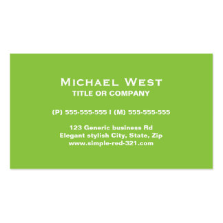 Modern simple elegant green and black professional business card