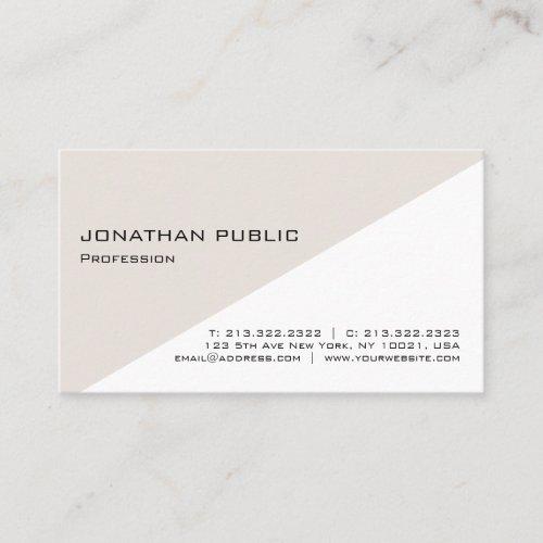 Modern Simple Elegant Plain Professional Design Business Card