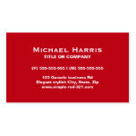 Modern simple elegant red and black business card