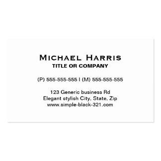 Modern simple elegant white black business card