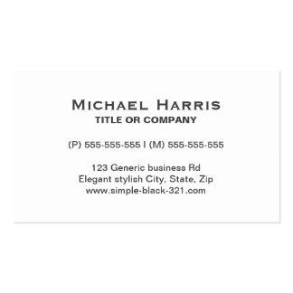 Modern simple elegant white gray business card