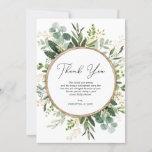 Modern Simple Eucalyptus Greenery Baby Shower Thank You Card