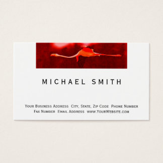 Modern Simple Flamingo Business Card