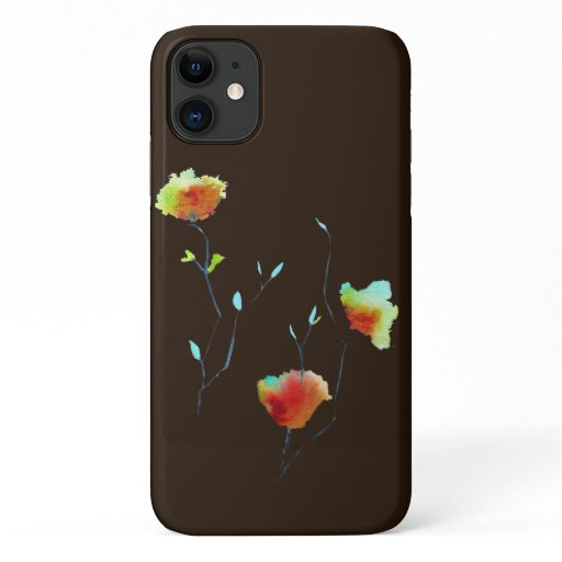 Modern simple floral flower Autumn art iPhone 11 Case