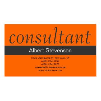 Modern Simple Grey Orange Business Card