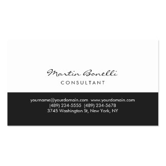 Modern Simple Grey White Consultant Business Card