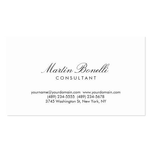 Modern simple minimalist calligraphy business card zazzle