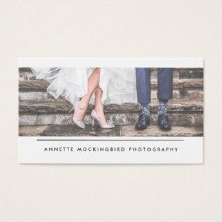 Elegant Border | Photographer Vertical Business Card