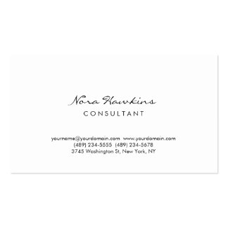 Modern Simple Minimalist Red White Consultant Business Card