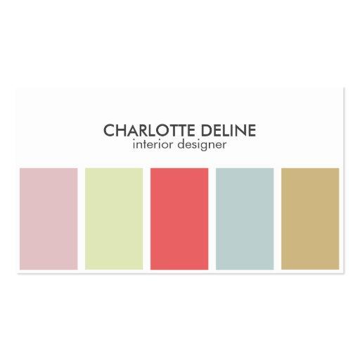 modern simple pastel striped interior designer business