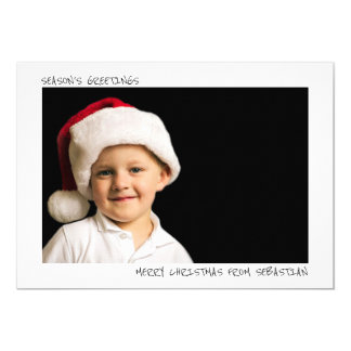Modern Simple Personalized Christmas Photo Card