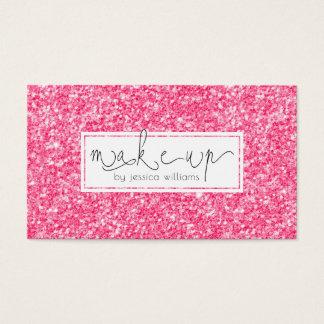 Modern Simple Pink GlitterTexture Business Card