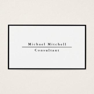 Modern Simple Plain Elegant Black White Border Business Card