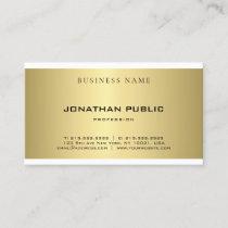 Modern Simple Plain Gold Look Elegant Professional Business Card