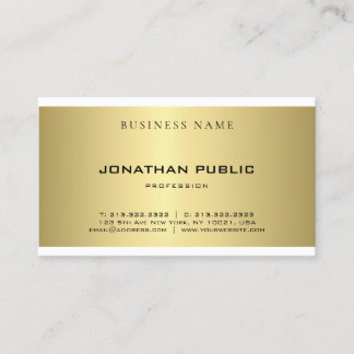 Modern Simple Plain Gold Look Elegant Professional Business Card