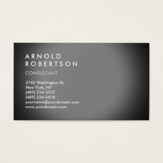 Modern Simple Plain Grey Trendy Business Card