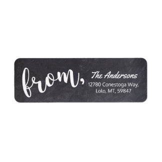Chalkboard - Modern Simple Plain Typography Calligraphy Script Label