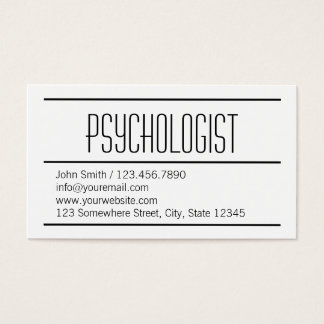Modern Simple Psychologist Business Card