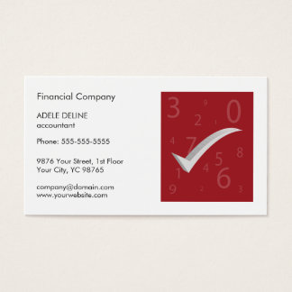 Modern Simple Red and White Accountant Business Card