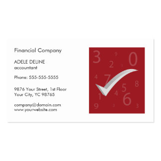 Modern Simple Red and White Accountant Double-Sided Standard Business Cards (Pack Of 100)