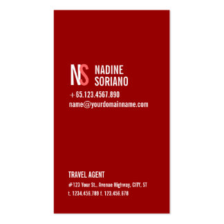 Modern Simple Red Monogram Professional Business Cards