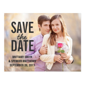 Modern Simple Save the Date Postcard