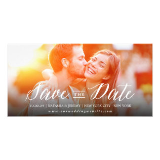 Modern Simple Script Save The Date Photo Card