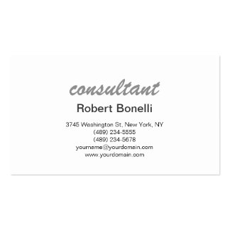 Modern Simple Standard Consultant Business Card