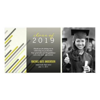 Modern Simple Stylish Stripes Graduation Thank You Card