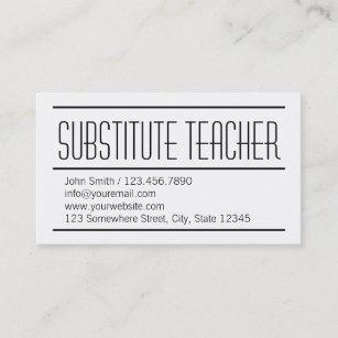 substitute teachers business cards
