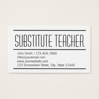 Substitute business cards tiredriveeasy substitute business cards substitute teacher flashek Gallery