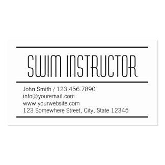 Modern Simple Swim Instructor Business Card