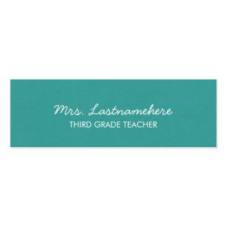 Modern & Simple Teacher Business Card