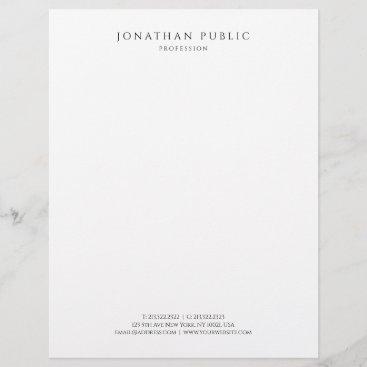 Modern Simple Template Elegant Black And White Letterhead