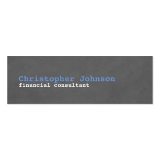 Modern Simple Texture Grey Blue Consultant Mini Business Card