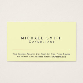Modern Simple Trendy Chic Consultant Business Card
