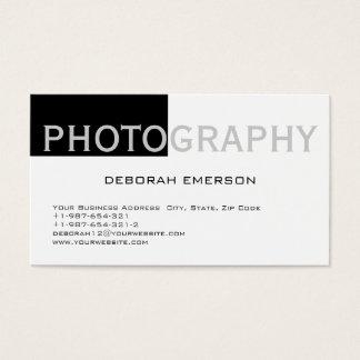 Modern Simple White Black Standard Business Card