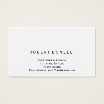 Browse products at zazzle with the theme human resources business modern simple white color consultant business card reheart Gallery