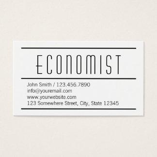 Modern Simple White Economist Business Card