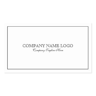 Modern Simple White With Tin Black Border Business Card