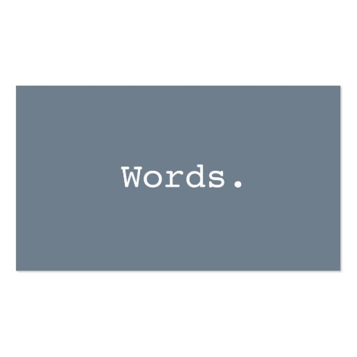 Modern simple writer publisher editor slate gray business cards