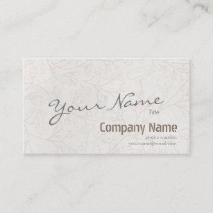Modern Simply Elegant Vintage Floral Background Business Card