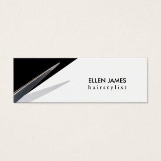modern skinny budget hair stylist hairstylist mini business card