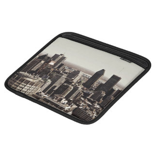 modern skyscape of montreal city iPad sleeve