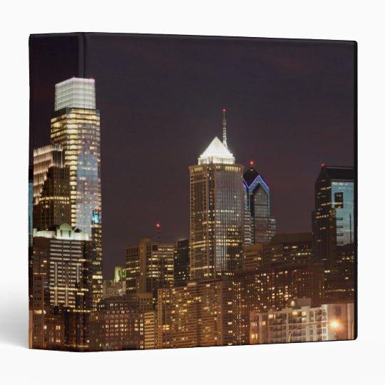 Modern skyscrapers of Philadelphia downtown 3 Ring Binder